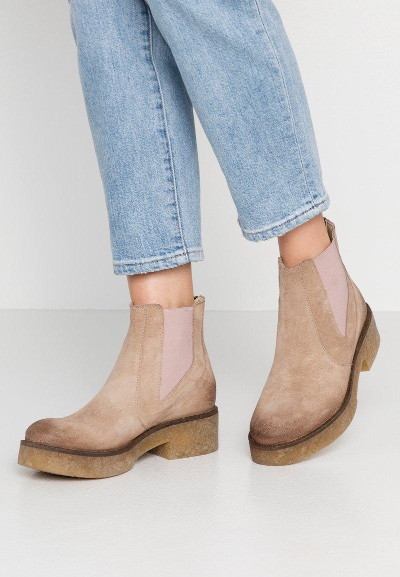 Felmini - LISETE - Platform ankle boots - sand