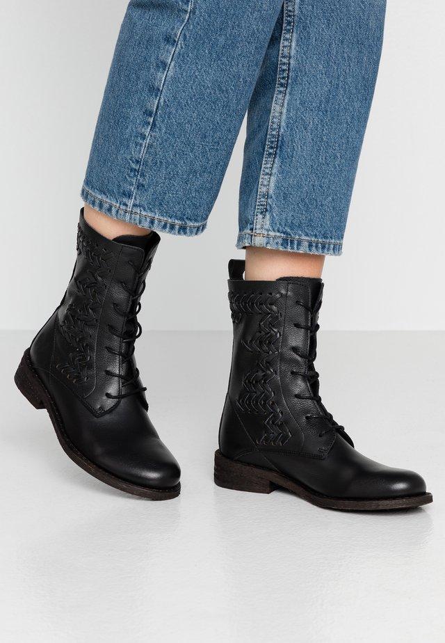 GREDO - Veterboots - light black