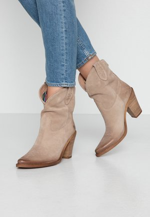 STONES - Cowboy/biker ankle boot - taupe