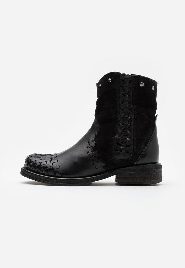 COOPER - Cowboy- / bikerstøvlette - marvin black