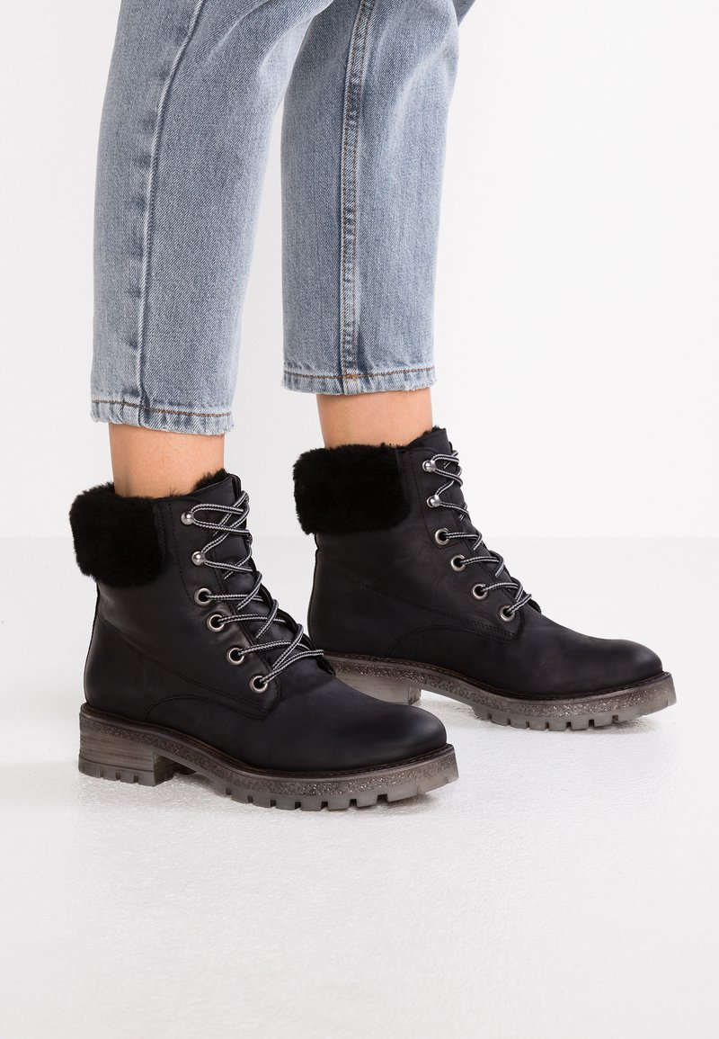 Felmini - JAKI - Lace-up ankle boots - james black