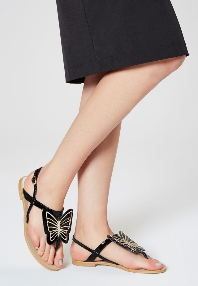 T-bar sandals - noire verni
