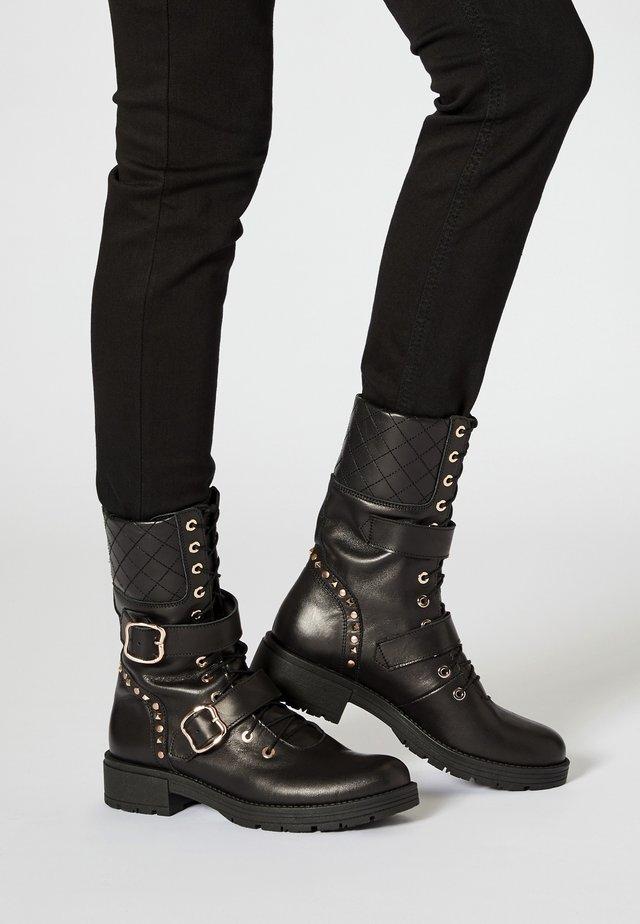 Snørestøvler - noir
