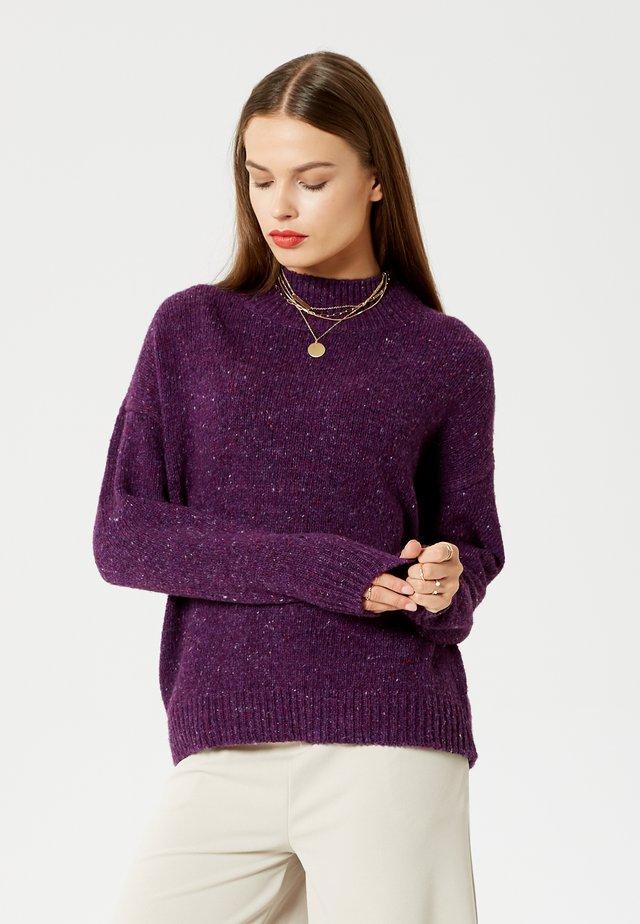 Strikpullover /Striktrøjer - violet