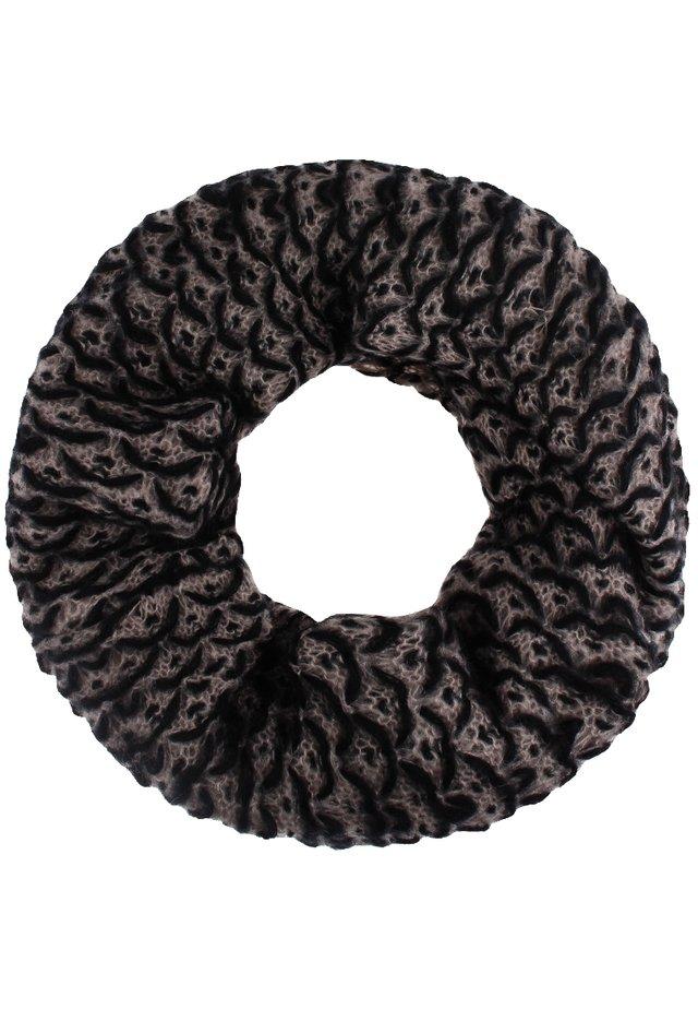 Écharpe tube - schwarz/beige