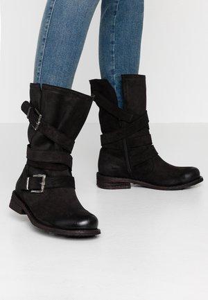 GREDO - Kovbojské/motorkářské boty - black