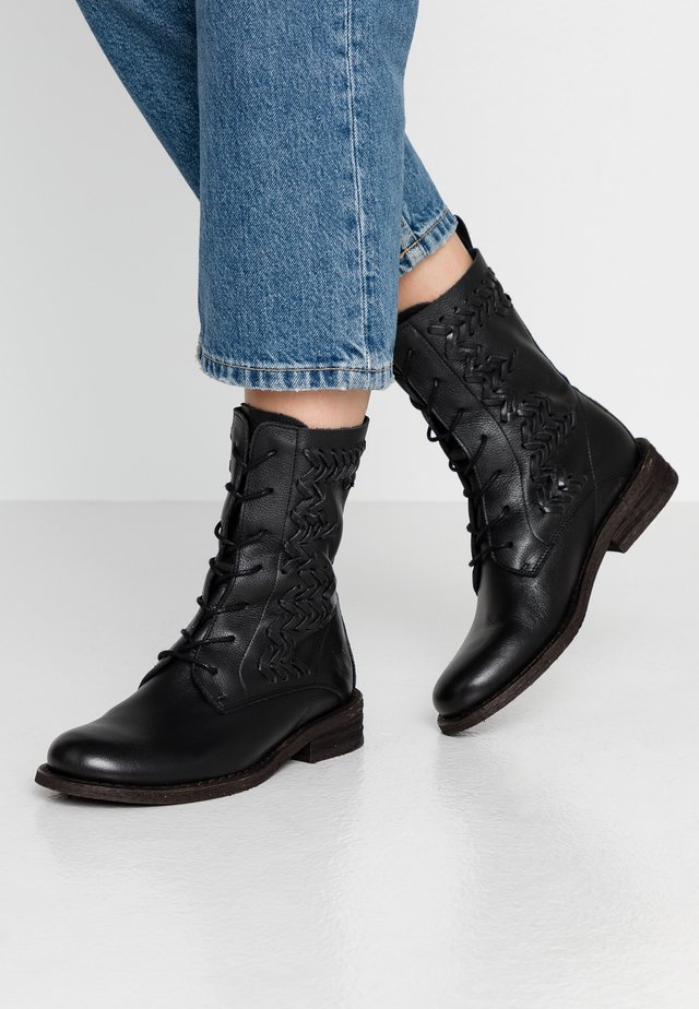 GREDO - Lace-up ankle boots - light black