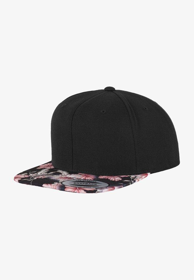 FLORAL SNAPBACK - Cap - black