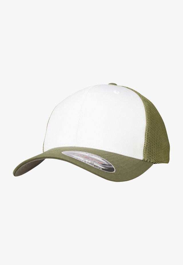 Cap - green and white