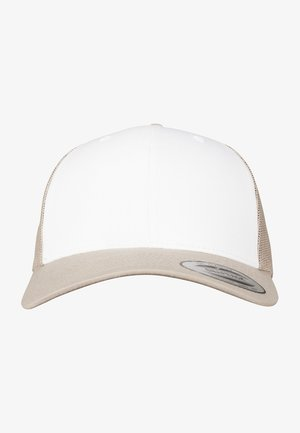 RETRO TRUCKER - Keps - khaki/white