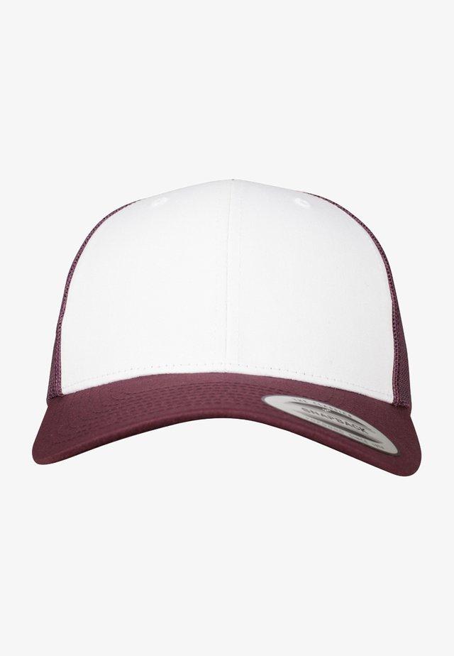 RETRO TRUCKER - Cap - maroon/white