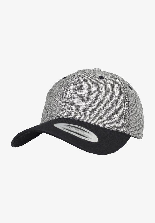 Cap - black melange/black