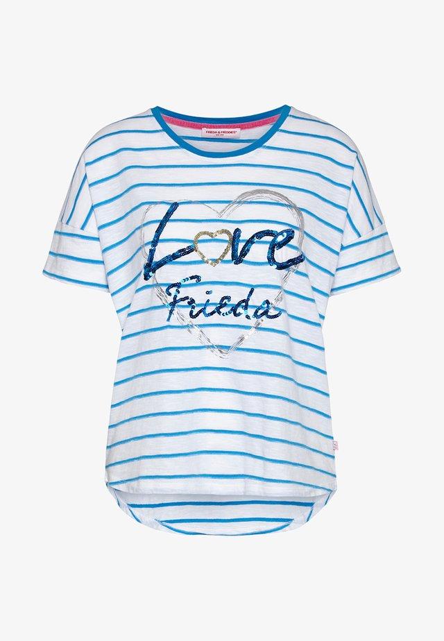 Print T-shirt - bubble blue
