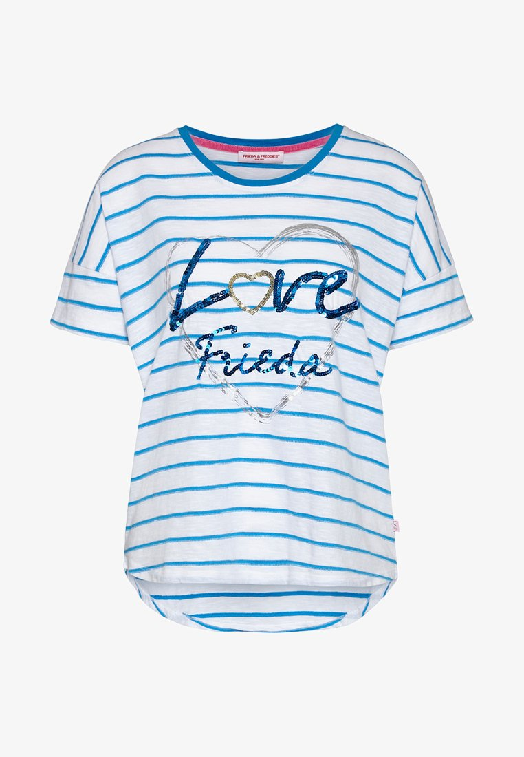 Frieda & Freddies - Print T-shirt - bubble blue