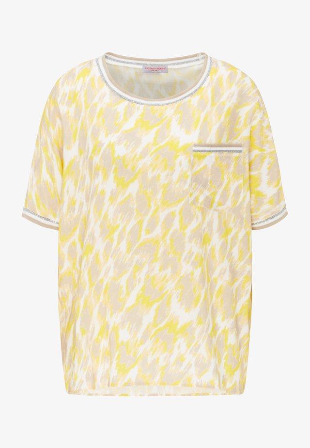 Print T-shirt - yellow leo print