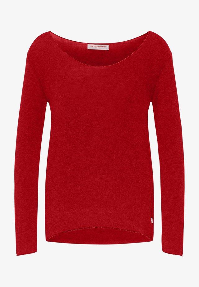 Basic T-shirt - cherry red