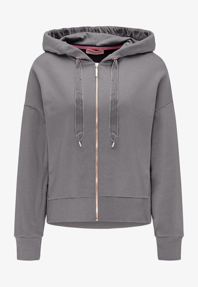 Zip-up hoodie - iron