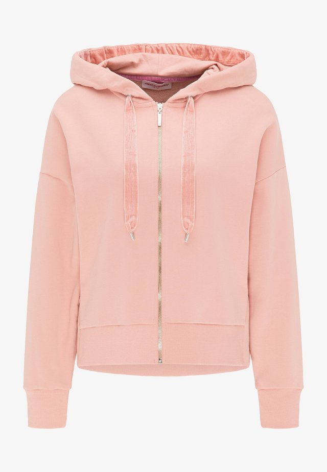 Zip-up hoodie - desert rose