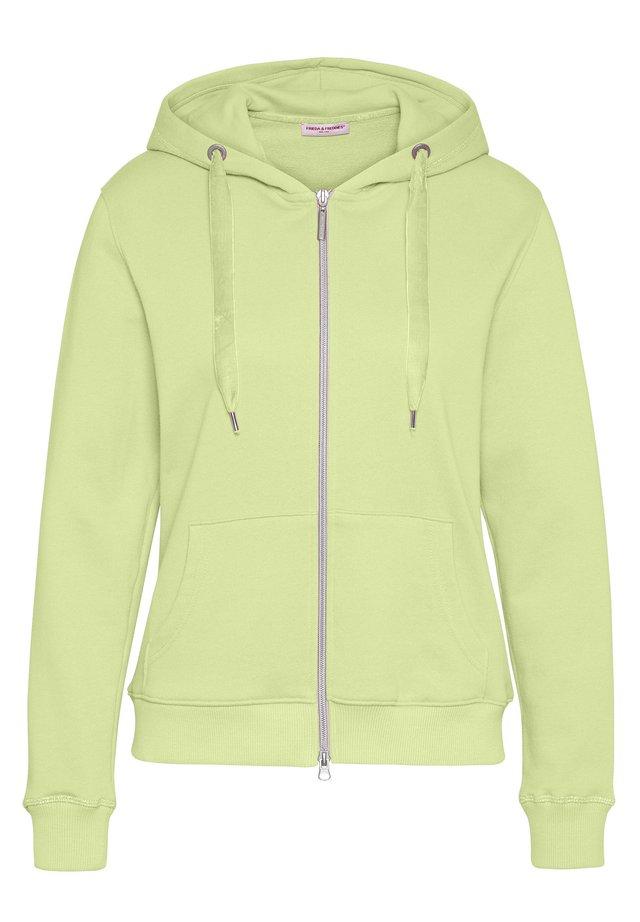 SWEAT JACKET - Zip-up hoodie - lime green
