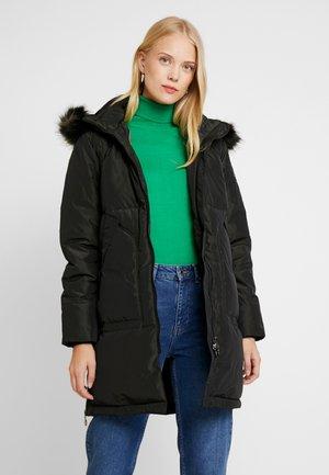 Down coat - black olive