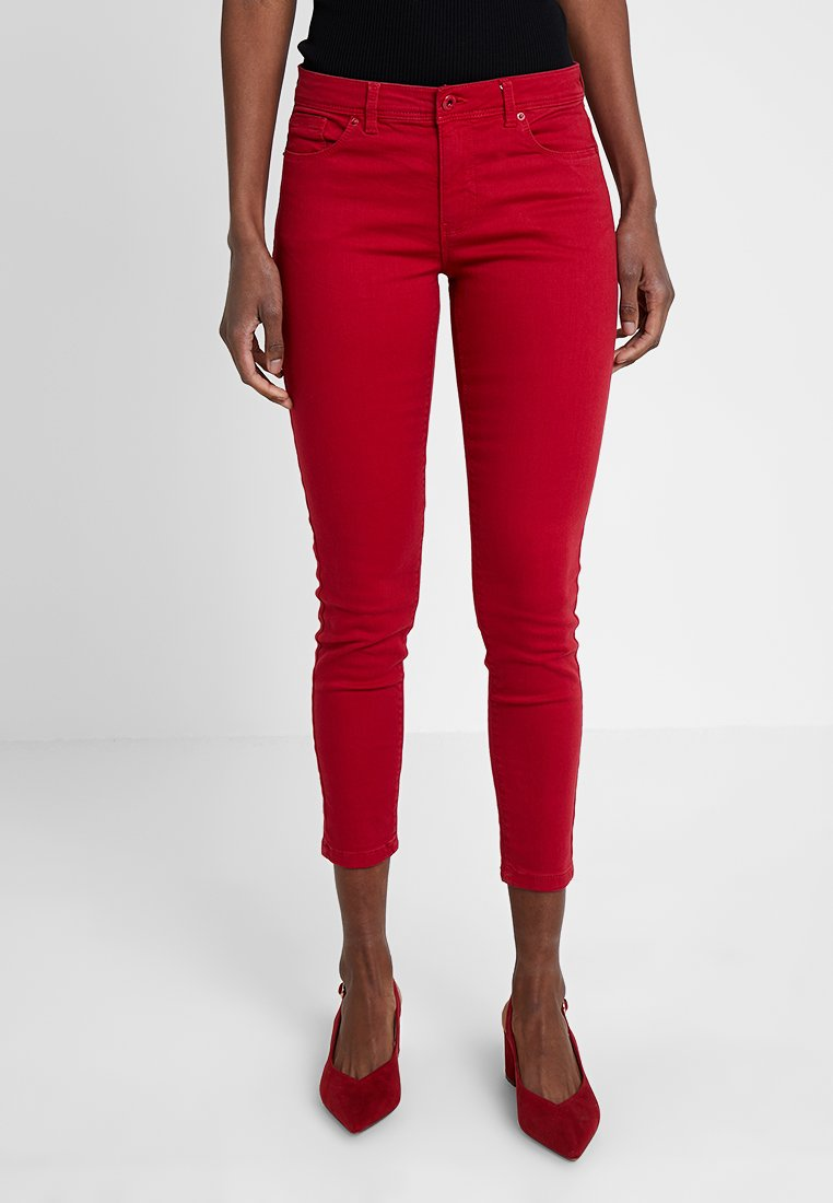 Springfield - CROP  - Jeans Skinny Fit - reds