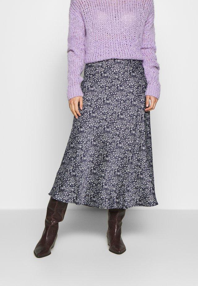 FALDA MIDI BICOLOR - A-line skirt - blue
