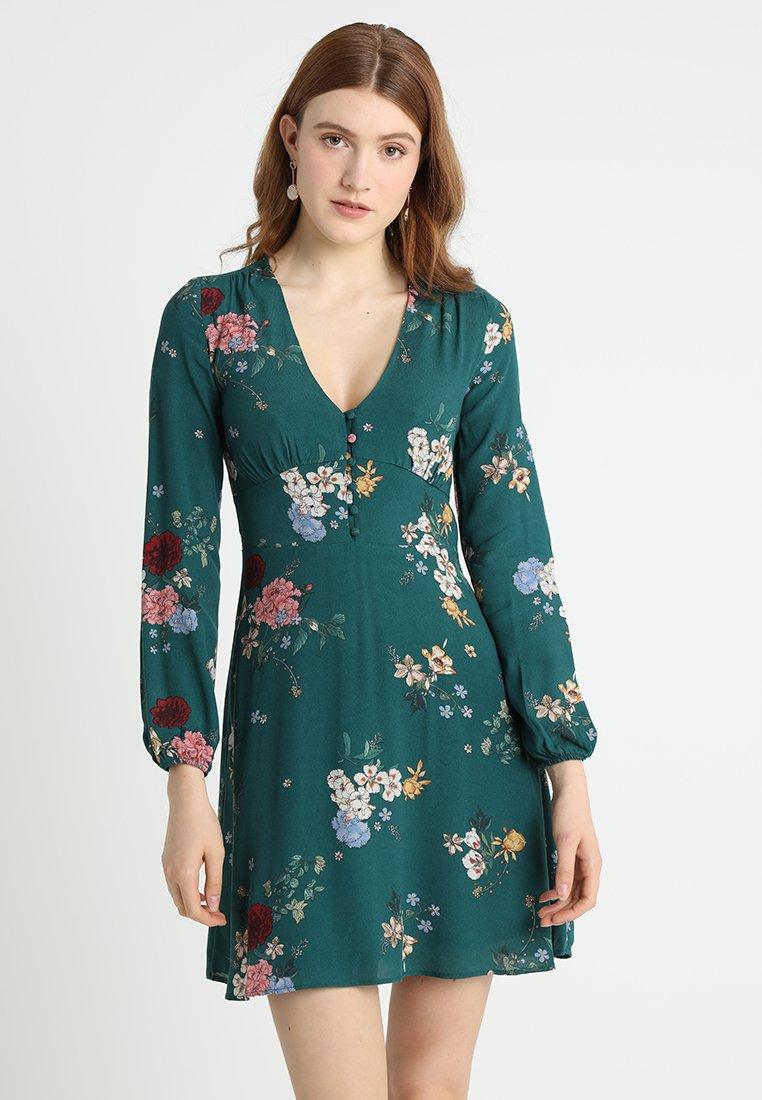 Springfield - VESTIDO BOTÓN FORRADO - Day dress - greens