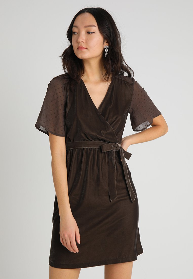 Springfield - VESTIDO TERC MANG - Shift dress - taupe