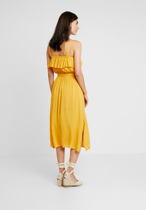 VESTIDO MIDI LISO - Shirt dress - yellows