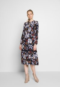 Springfield - VESTIDO FLORAL - Denní šaty - blue - 0