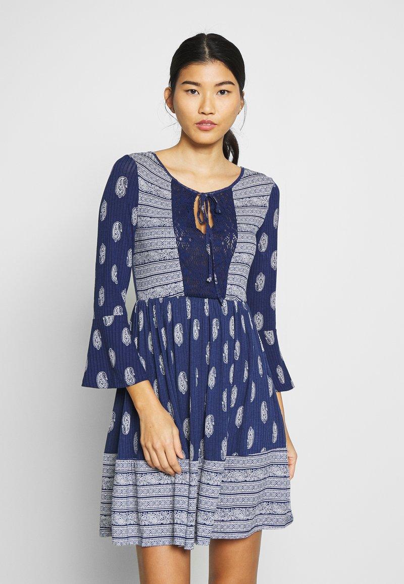Springfield - VEST PASLEY - Jersey dress - blue