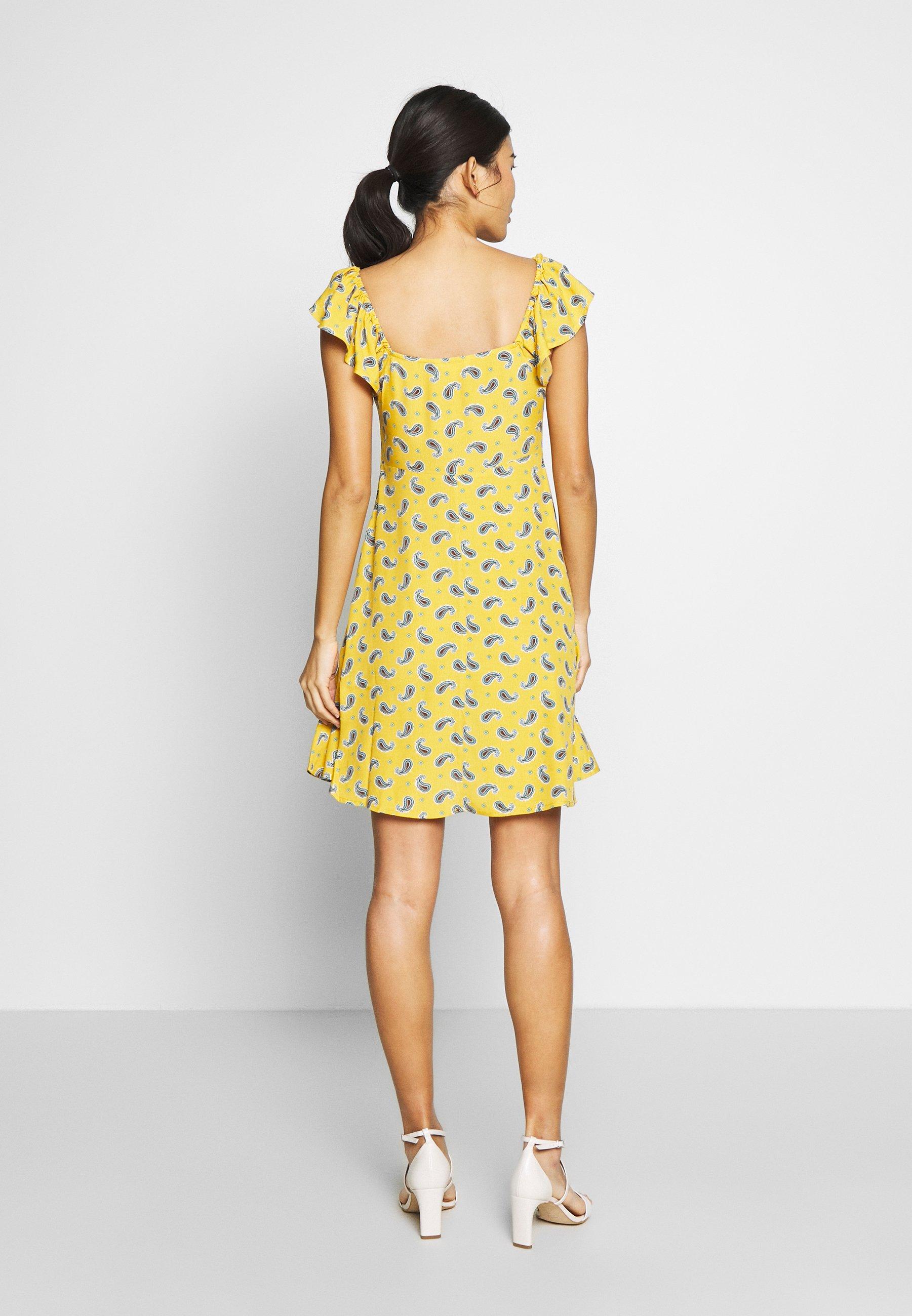 Springfield VESTIDO CORTO AMEBAS - Sukienka letnia - yellow