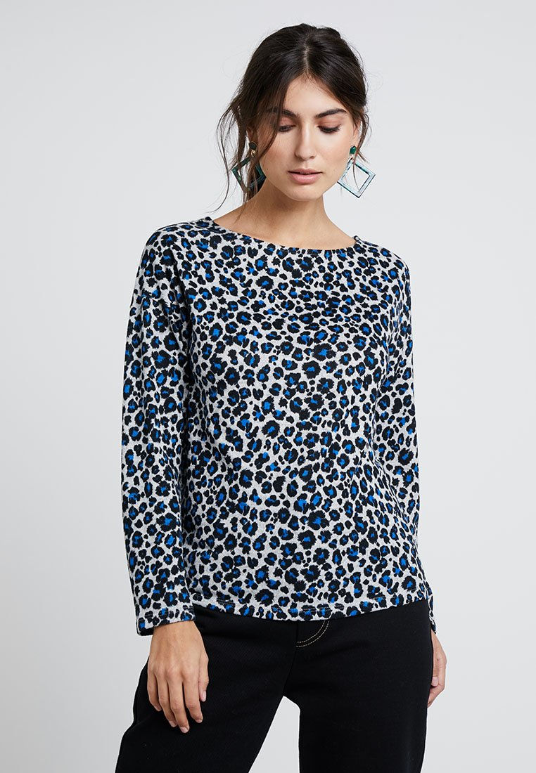 Springfield - ANIMAL PRINT - Strickpullover - blues