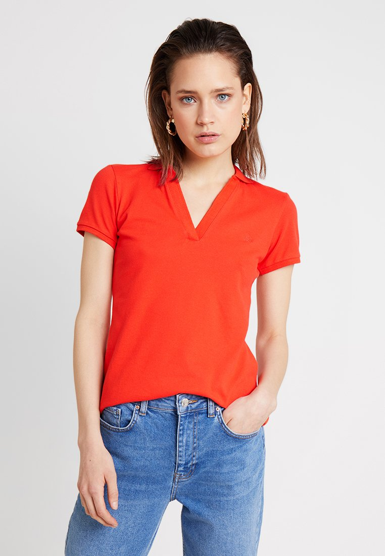 Springfield - POLO LISO - T-shirt con stampa - reds