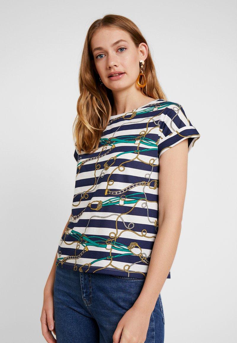 Springfield - CADENAS RAYA - T-Shirt print - blues