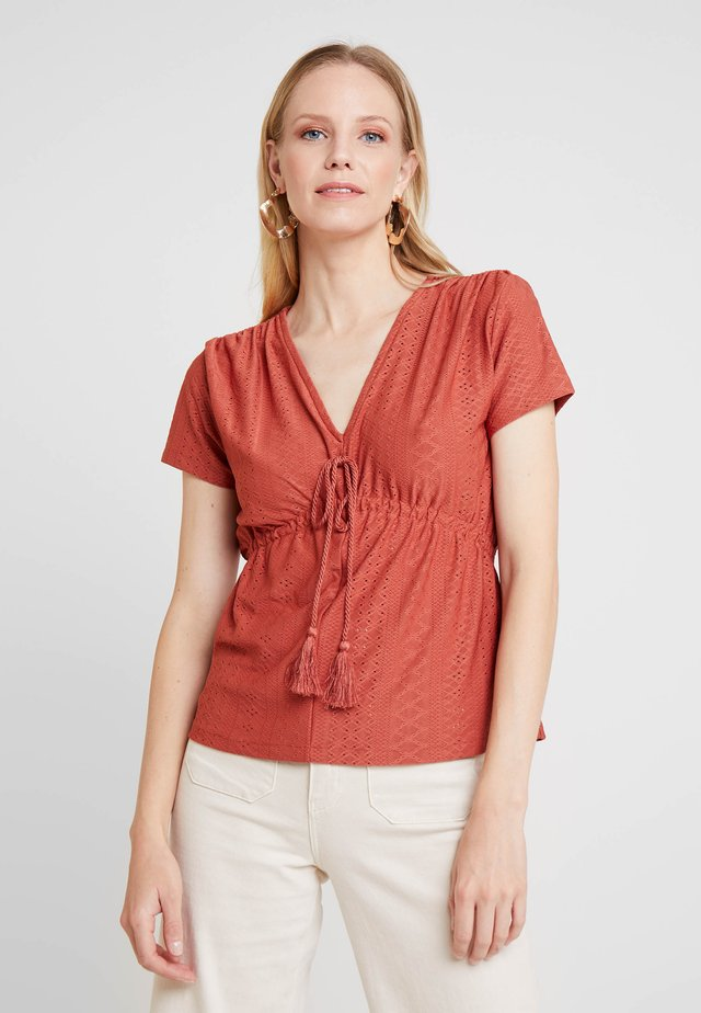 BORLA TEJA - T-Shirt print - browns