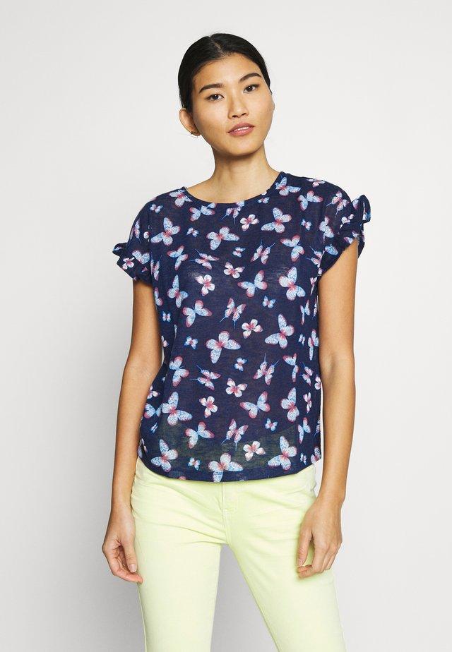MARIP FLOR - Print T-shirt - blues