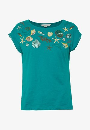 CAMISETA COLLAR BORDADO - T-shirts med print - green