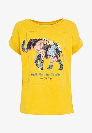 CAMISETA ELEFANTE - Print T-shirt - yellow