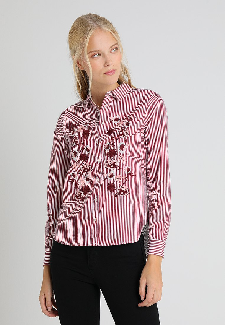 Springfield - CAMISA BORDADO - Button-down blouse - reds