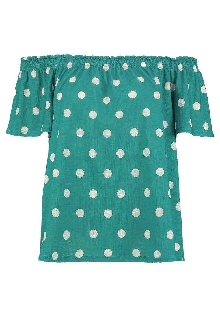 Springfield - CAMISETA GOMAS - T-Shirt print - greens