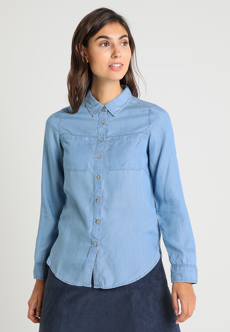 Springfield - CAMISA  - Button-down blouse - blue