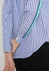 Springfield - CAMISA MANGA - Button-down blouse - marine blue