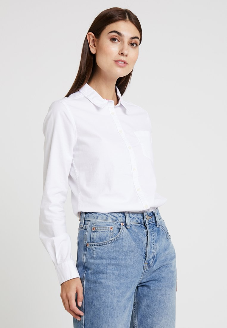 Springfield - CAMISA OXFORD - Button-down blouse - white
