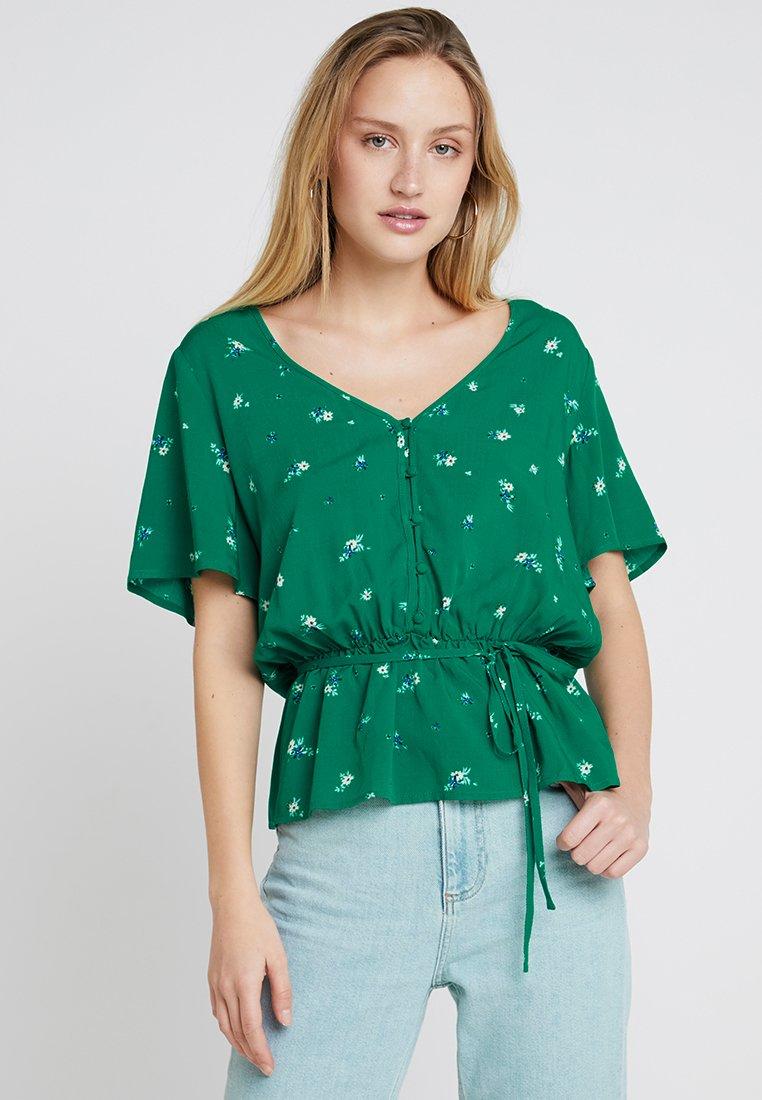 Springfield - BOTONES - Bluse - greens