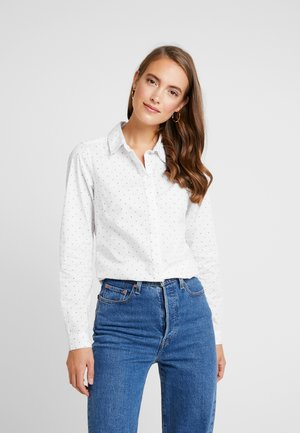 CAMISA SLIM FIT - Button-down blouse - ivory