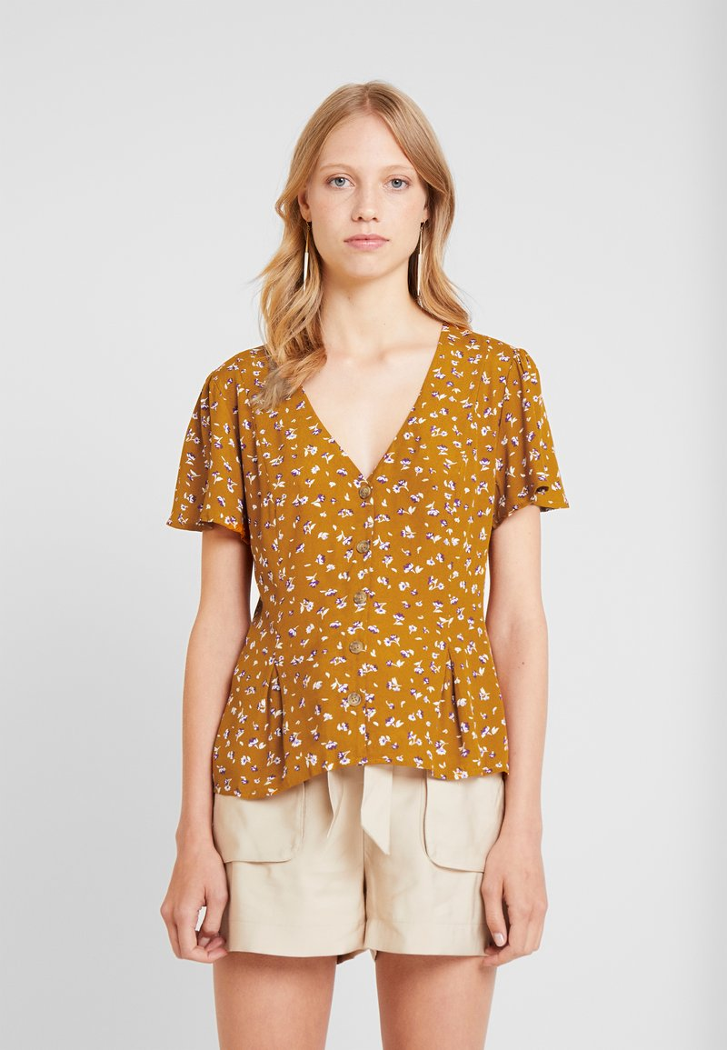 Springfield - BLUSA PINZAS - Bluse - browns