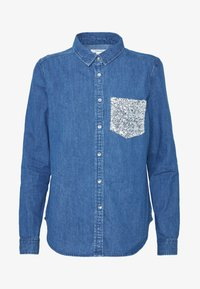 Springfield - CAMISA LENTEJ - Chemisier - medium blue - 4