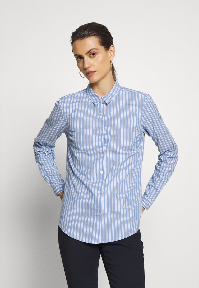 CAMISA POPELIN - Button-down blouse - medium blue