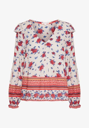 BLUSA FLOR FOLK - Bluser - red/white